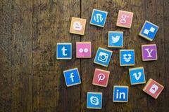 QUEENSTOWN, ΝΟΤΙΑ ΑΦΡΙΚΉ - 9 ΑΠΡΙΛΊΟΥ 2017: Κοινωνικό MEDIA logotype Στοκ φωτογραφία με δικαίωμα ελεύθερης χρήσης