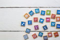 QUEENSTOWN, ΝΟΤΙΑ ΑΦΡΙΚΉ - 9 ΑΠΡΙΛΊΟΥ 2017: Κοινωνικό MEDIA logotype Στοκ Εικόνες