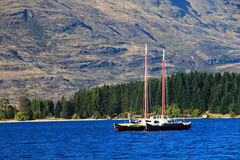 Queenstown, τοπίο της Νέας Ζηλανδίας Wakatipu Στοκ Εικόνα