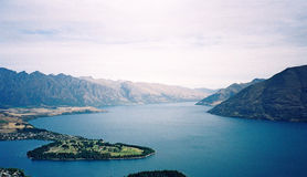 Queenstown. View of Queenstown Royalty Free Stock Photos