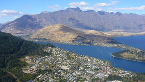 Queenstown. Panoramic view of Qeenstown, New Zealand Royalty Free Stock Photo