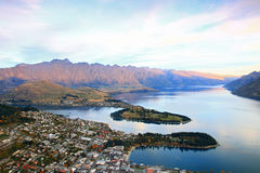 Queenstown aerial view Stock Image