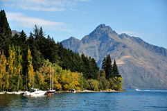 Queenstown Bay. Taken at Queenstown new zealand royalty free stock image