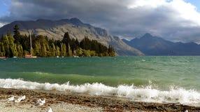 Queenstown Bay.Lake Wakatipu. NZ Royalty Free Stock Photos