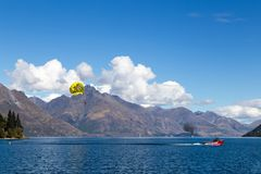Queenstown Bay, New Zealand royalty free stock images