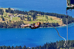 Queenstown bungy jump Royalty Free Stock Photo