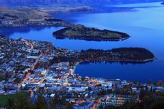 Queenstown downtown at dusk Stock Photography