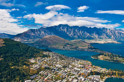 Queenstown downtown Royalty Free Stock Photography