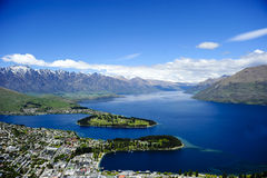 Queenstown e lago Wakatipu Fotografia Stock