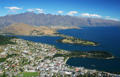 Queenstown en Nouvelle Zélande Photo stock