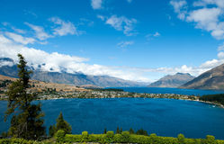 Queenstown et lac Wakatipu Image stock