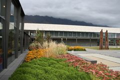 Queenstown flygplats Arkivbild
