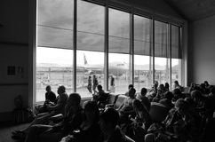 Queenstown flygplats - Nya Zeeland royaltyfri bild