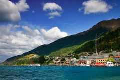 Queenstown harbor Royalty Free Stock Image