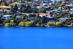Queenstown, het landschap van Nieuw Zeeland Wakatipu stock afbeeldingen