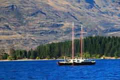 Queenstown, het landschap van Nieuw Zeeland Wakatipu Stock Afbeelding