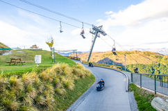 Queenstown horisont, Nya Zeeland arkivfoton