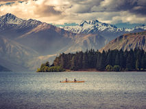 Queenstown Kayak. Kayak on a lake in Queenstown New Zealand Royalty Free Stock Images