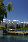 Queenstown, lake and mountains Stock Photo
