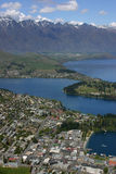 Queenstown, lake and mountains Royalty Free Stock Image