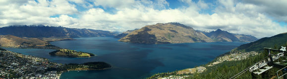 Queenstown and Lake Wakatipu Royalty Free Stock Photography