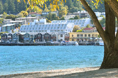 Queenstown by Lake Wakatipu Royalty Free Stock Photography