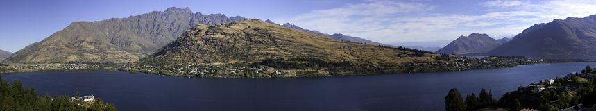Queenstown, Lake Wakatipu, New Zealand Royalty Free Stock Images