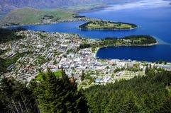 Queenstown at Lake Wakatipu Stock Photography