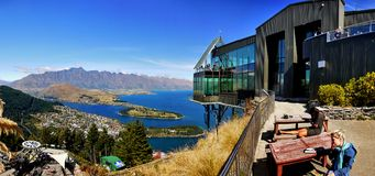 Queenstown, Wakatipu Lake, Gondola Summit view, New Zealand Royalty Free Stock Photography