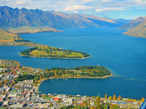 Queenstown and Lake Whakatipu Royalty Free Stock Photo
