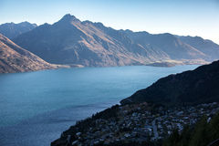 Queenstown linia horyzontu Obrazy Royalty Free