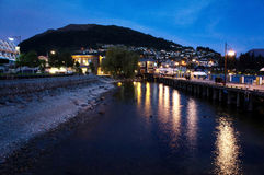 New Zealand Queenstown night Royalty Free Stock Photos