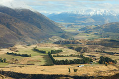 Queenstown neighborhood in the late autumn. Stock Photography