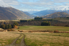 Queenstown neighborhood in the late autumn. Royalty Free Stock Images