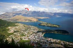 Queenstown, Neuseeland stockbilder