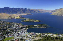 Queenstown - New Zealand. Queenstown is a resort town in Otago in the south-west of New Zealand's South Island. It is built around an inlet called Queenstown Bay Royalty Free Stock Image