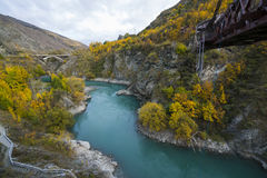QUEENSTOWN, NEW ZEALAND - April 29 2017: Kawarau Bridge near Que Royalty Free Stock Image