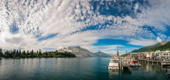 Glolious Morning in Queenstown Harbour, Stock Photo