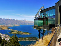 Queenstown, New Zealand. Queenstown and Lake Wakatipu from the top of the Skyline gondola. New Zealand Royalty Free Stock Images