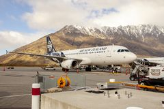 Queenstown new zealand - september6,2015 : air new zealand plane Royalty Free Stock Photo