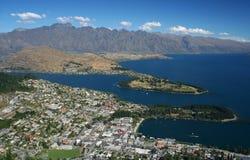 Queenstown in Nieuw Zeeland Stock Foto