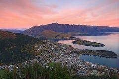 Queenstown Nouvelle Zélande Photo stock