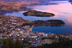 Queenstown Nova Zelândia fotografia de stock
