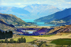 Queenstown Nya Zeeland royaltyfri foto