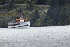 QUEENSTOWN, NZ - 12 ΝΟΕΜΒΡΊΟΥ: TSS Earnslaw στις 15 Νοεμβρίου 2014 Στοκ Εικόνες