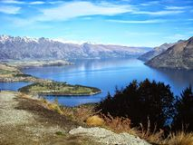 Queenstown. An overlook from Queenstown on the South Island of New Zealand Royalty Free Stock Photos