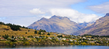 Queenstown Panorama Royalty Free Stock Photography