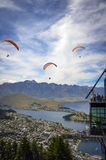 Queenstown parapenting Stock Photos