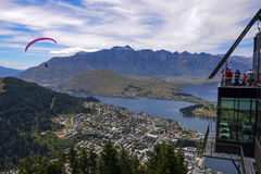Queenstown parapenting Stock Photo