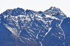 Queenstown plano, Nova Zelândia Imagem de Stock
